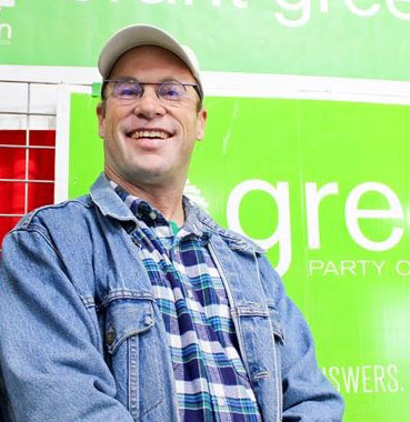 Green Party candidate Ken Burns urges Brantford-Brant to vote for what they value