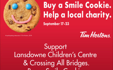 Lansdowne Children's Centre; Tim Horton's Team-Up For This Year's Smile Cookie Campaign