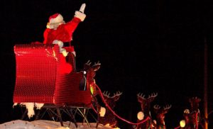 "Brantford Power, ""Your Delivery Company"", delivers Santa to Town November 24"