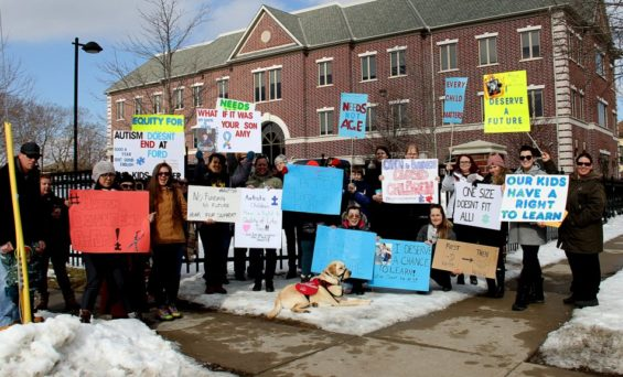 Brant/Brantford Protest M.P.P. Bouma Office | Fighting for Kids with Autism