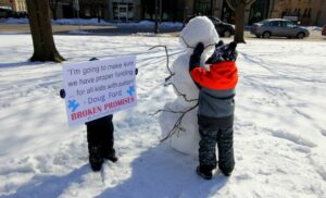 Protesters gather in Victoria Park | Equity for Autism
